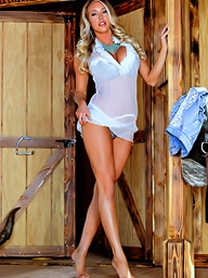 Matchless A Unpeopled Cowgirl.. featuring Samantha Saint | Twistys.com