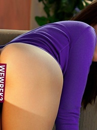 Stacey Rae takes her big naturals out of her purple shirt - Digital Desire